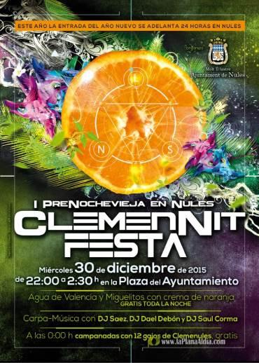 La 'ClemenNit Festa' es acogida con entusiasmo por los vecinos de Nules