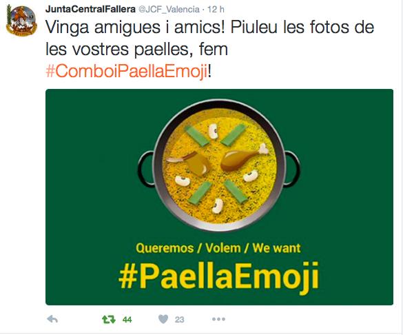 #Comboipaellaemoji trending topic mundial