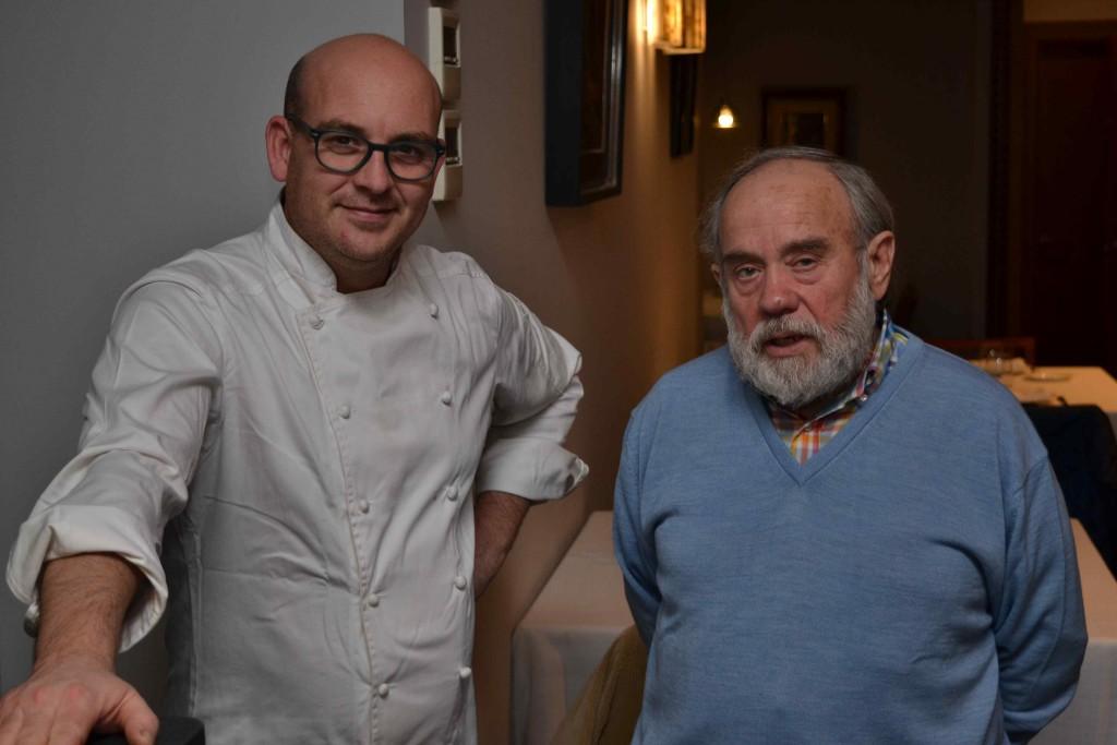 El chef Modesto Fabregat con el artista Melchor Zapata