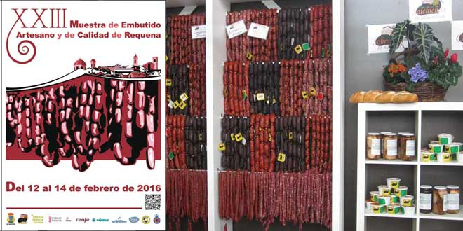 La Muestra del Embutido Artesano y de Calidad de Requena abrirá , las puertas de su XXIII edición