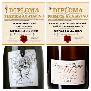 Pago de Tharsys consigue 2 medallas de oro en el Concurso Internacional de Vinos Akatavino