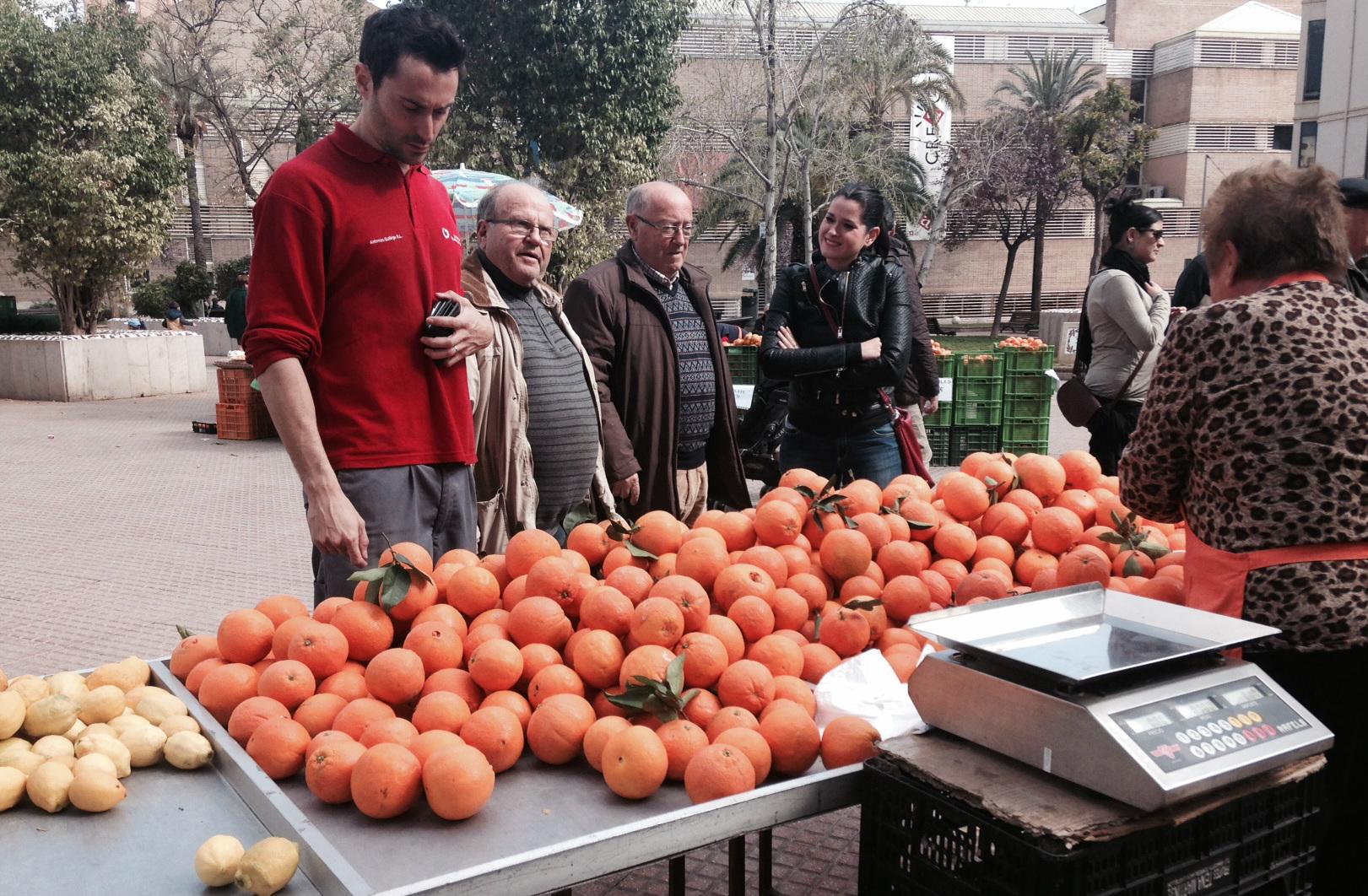 Visita de la regidora d'Agricultura, Sara Usó, a la Fira de la Taronja