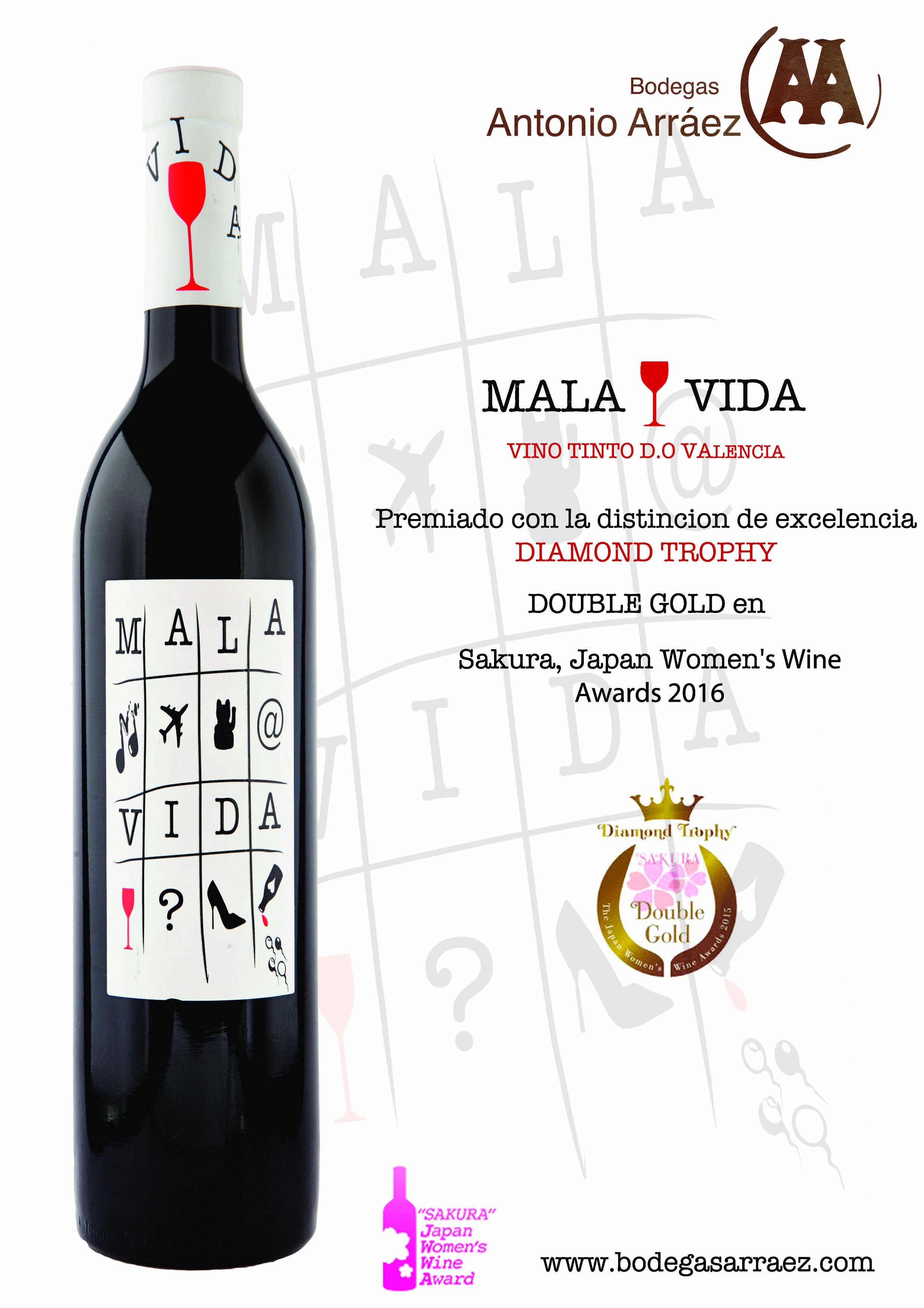 El vino, adscrito a la DOP Valencia, acaba de recibir el Diamond Trophy, máxima distinción de los Sakura