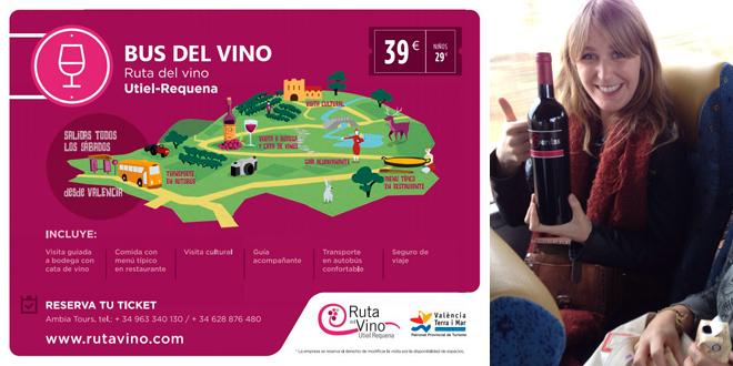 """La Ruta del Vino regresa de nuevo estas fallas y Semana Santa con su """"Bus del Vino"""""""
