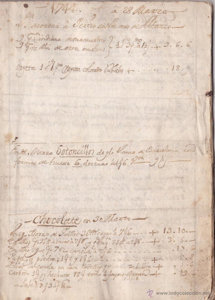 El Manuscrito de la receta de Chocolate más antiguo conservado año 1744 siglo XVIII