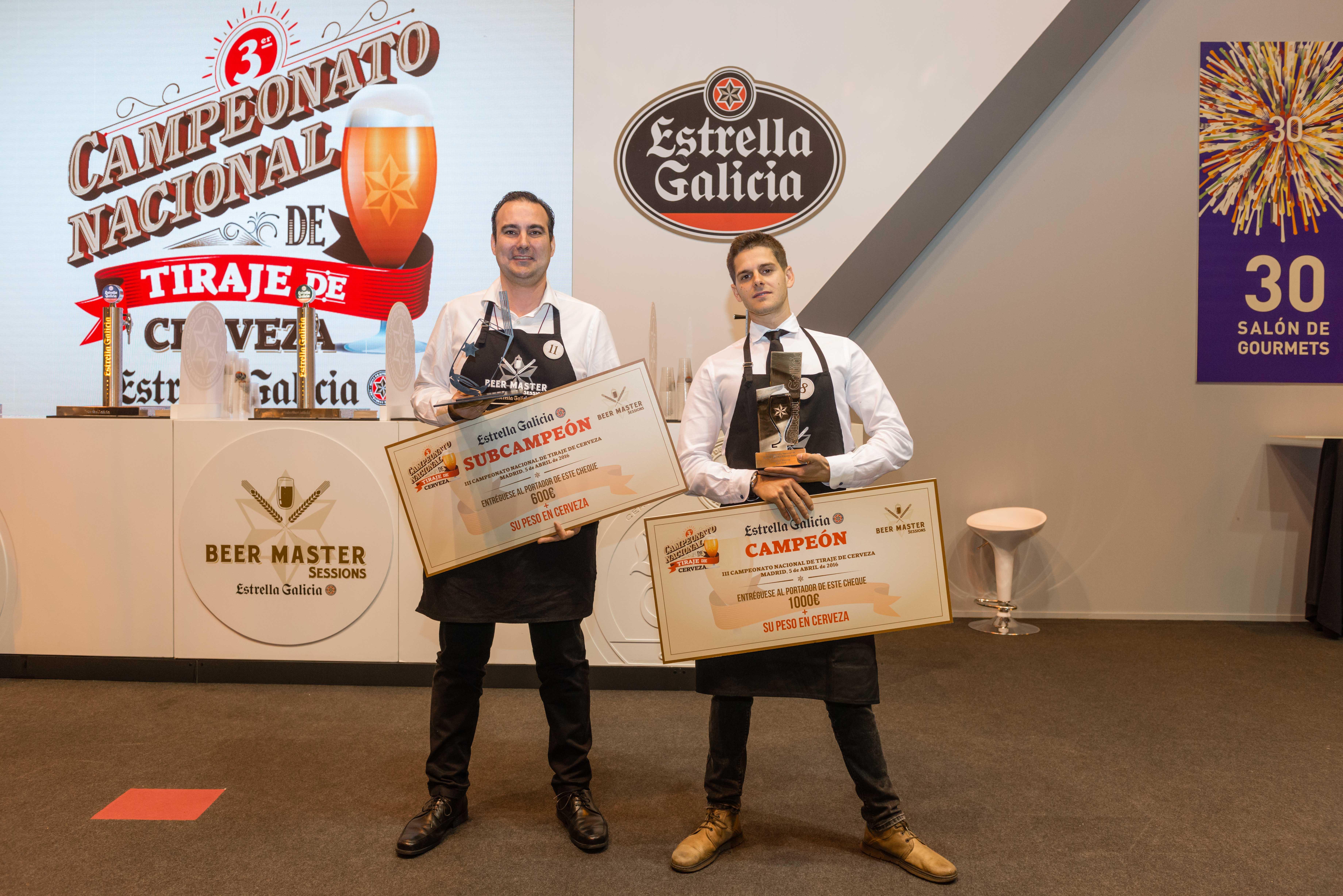 El alicantino Luis Miguel García, de Benidorm, se alza con el título de subcampeón del Campeonato de Tiraje de cerveza de España