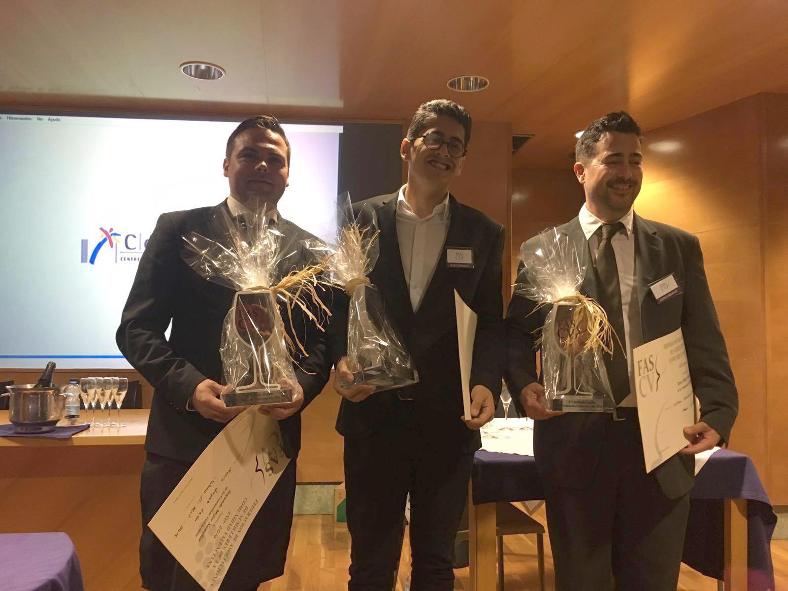 Hernan Menno recibe el Premio al Mejor Sumiller de la Comunitat Valenciana