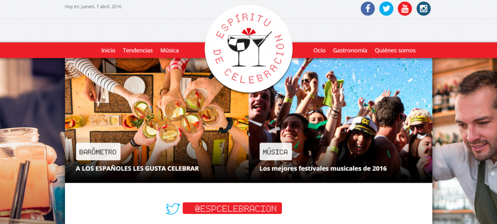 La Federación Española De Bebidas Espirituosas (FEBE) lanza www.espiritudecelebracion.es