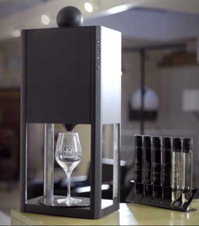Una máquina que dispensa monodosis de vino D-Vine