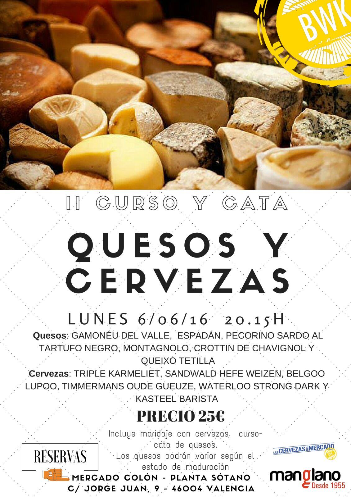 II curso y cata de quesos y cerveza en Las Cervezas del Mercado