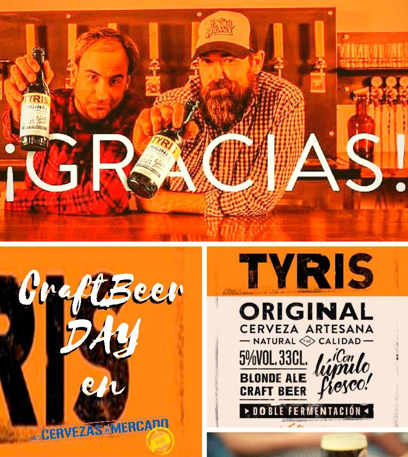 4 Cervezas + Maridaje Craft Beer Day en el Mercado de Colón TYRIS, DIABLOS JOE, VIPA Y AMOR AMARGO