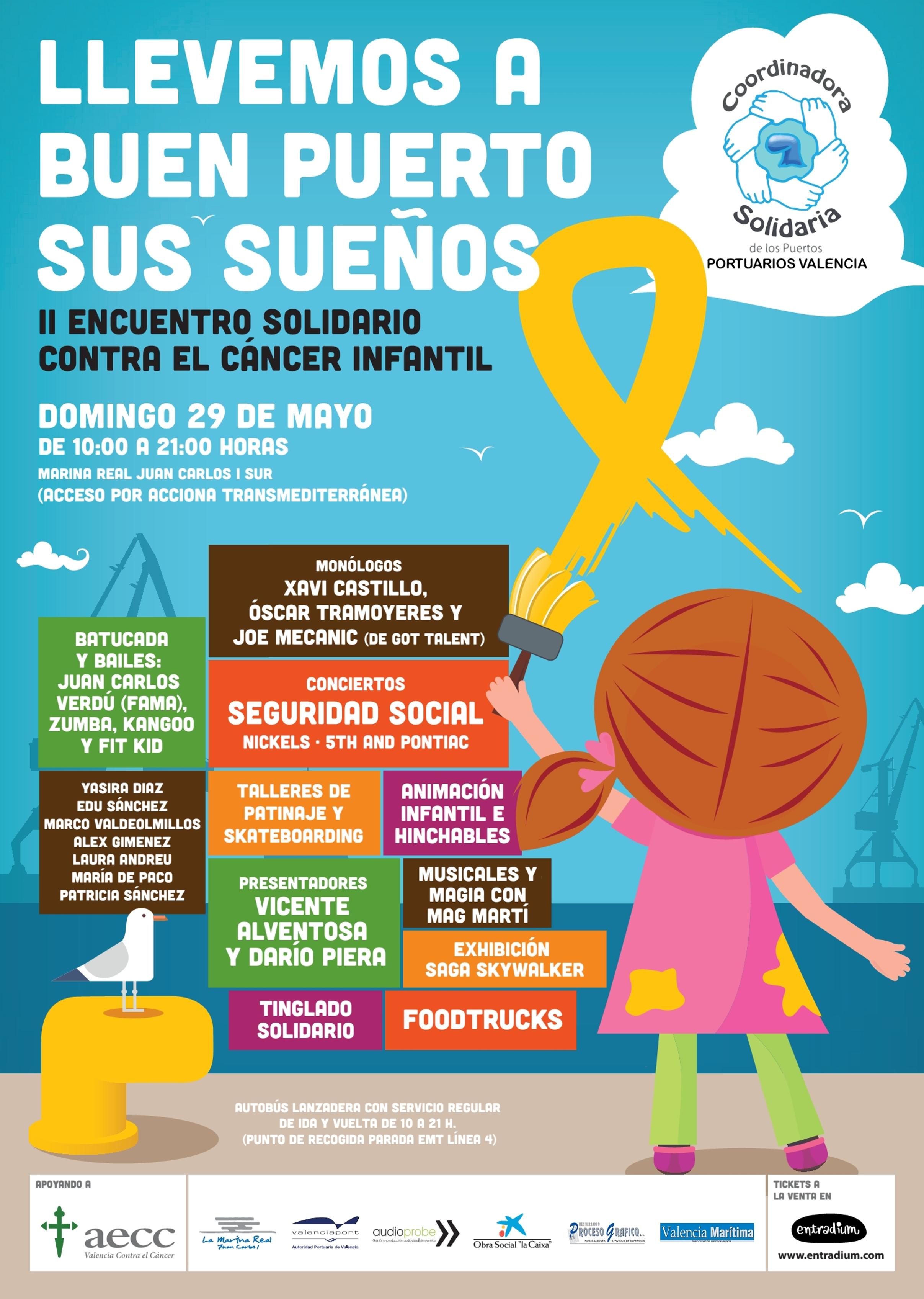 Macroevento solidario contra el cáncer infantil