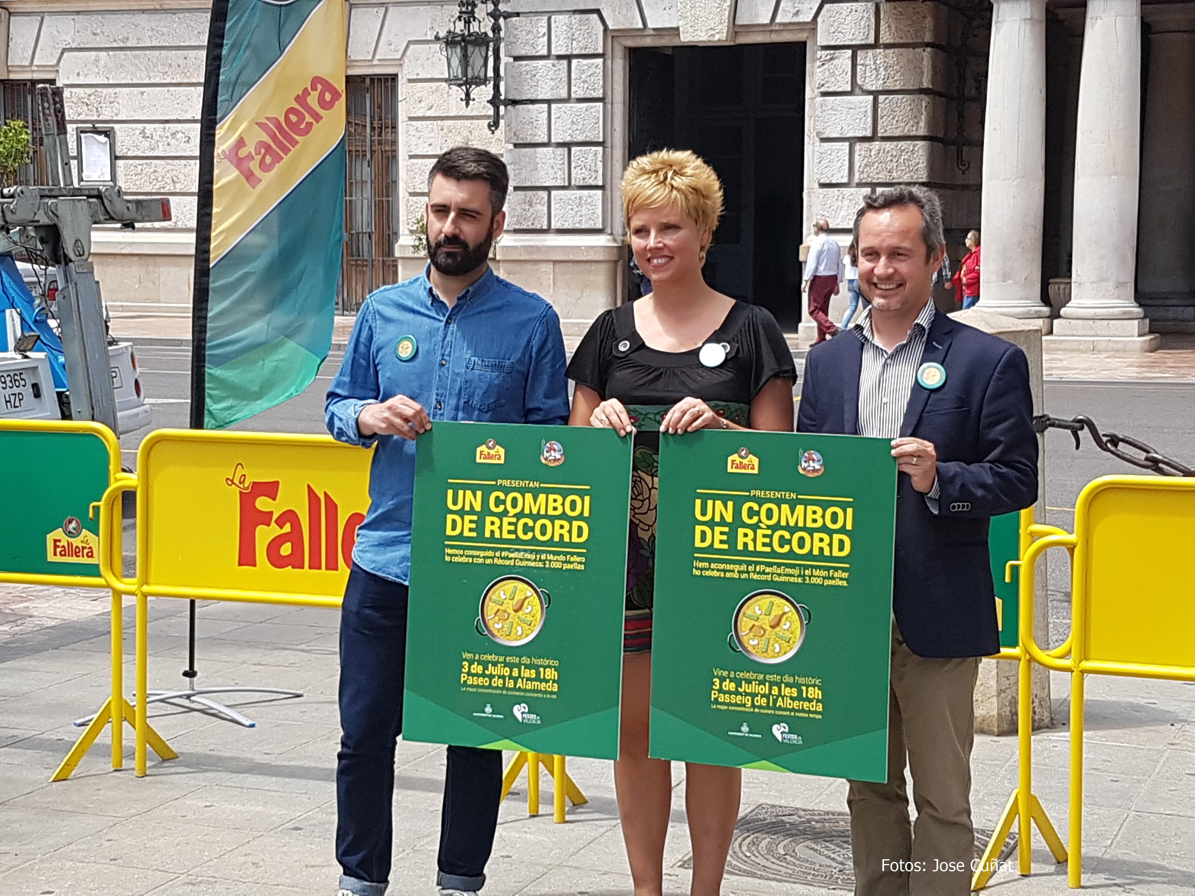 El Ayuntamiento y arroz La Fallera convoca a falleros y vecinos a la celebración comboi #paellaemoji el 3 de julio