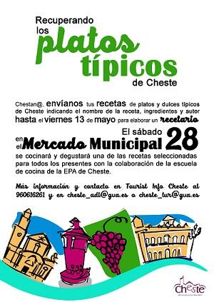 La concejalía de Turismo de Cheste recopila las recetas típicas de la gastronomía local