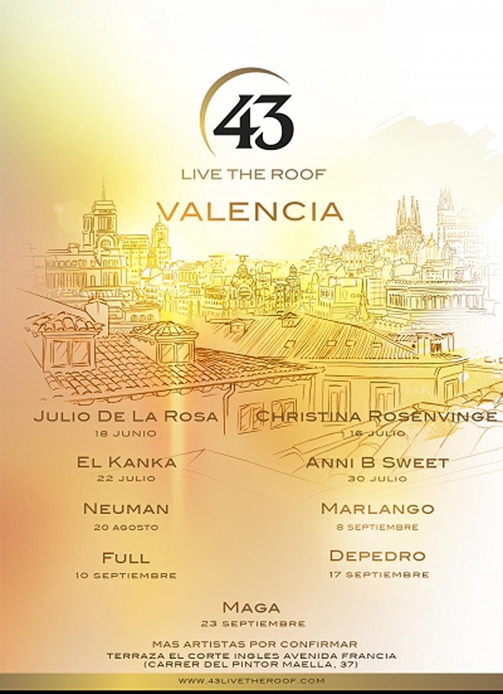 Live The Roof, los conciertos más íntimos conlas mejores vistas de la ciudad vuelven a Valencia