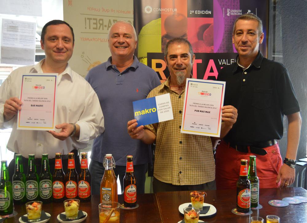 """Bar Marvi y pub Max Max ganan el premio a la mejor tapa y a la mejor copa de la """"II Ruta del Tardeo de Valencia"""""""