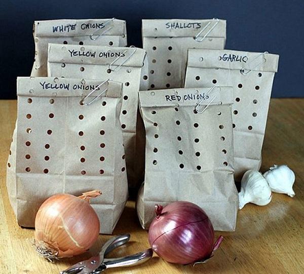 Ideal para el almacenamiento de las cebollas y ajos