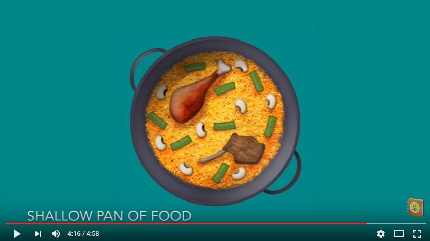 Shallow Pan Of Food el nombre de la paella en emoji y  los 72 nuevos emojis que tendrá WhatsApp