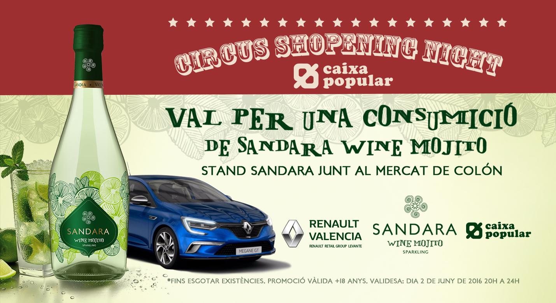 Bodegas Vicente Gandía vuelve a patrocinar la Shopening Night Caixa Popular con su nuevo Sandara Wine Mojito