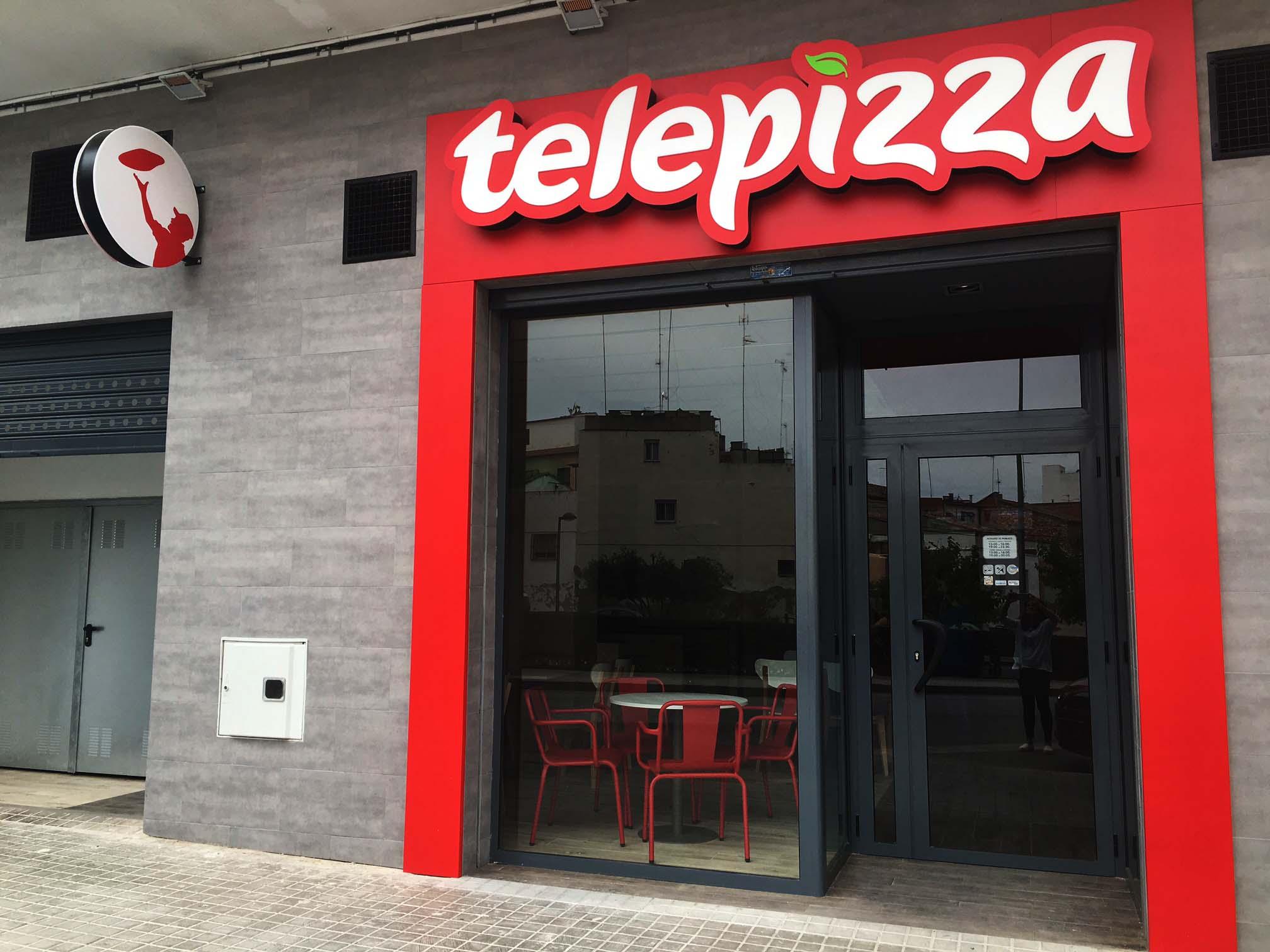 Telepizza puesta por Bétera con inagen renovada