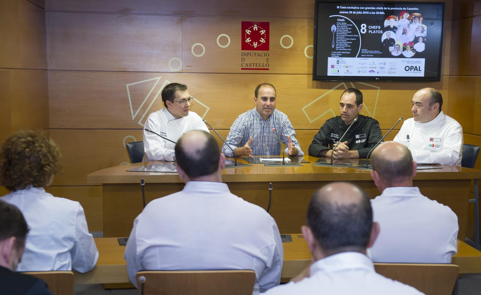 La Diputación une la calidad de Castelló Ruta de Sabor al talento de los mejores chefs castellonenses en '8 platos 8 chefs'