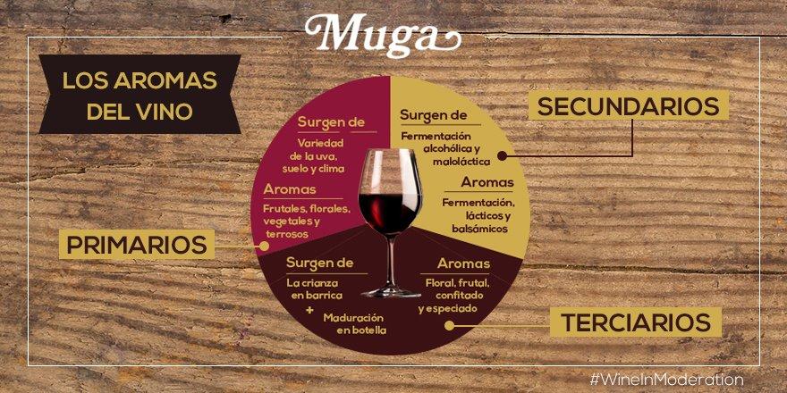 ¿De dónde vienen los aromas del vino?