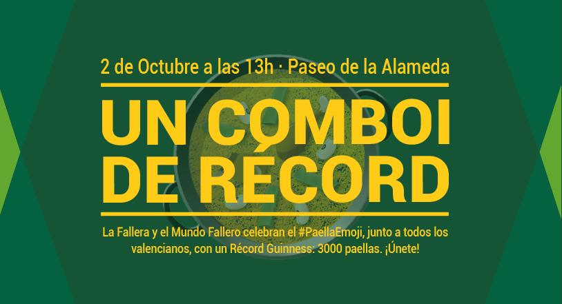 El #ComboiDeRecord de 3000 paellas tiene fecha 2 de OCTUBRE