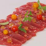Receta de carpaccio de atún con jamón