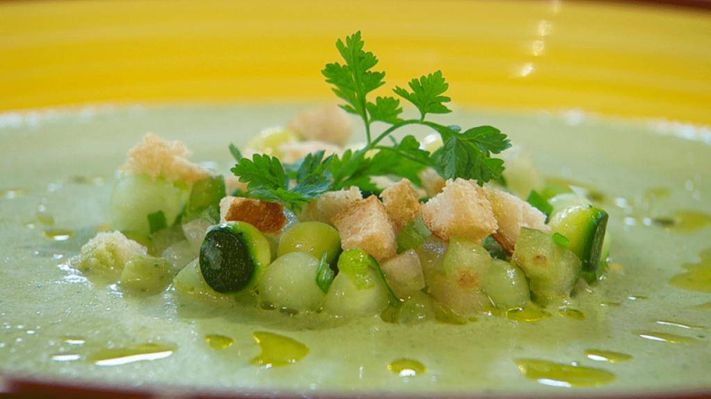 Receta de gazpacho verde