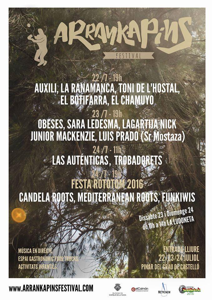 El Pinar del Grau de Castelló se llena de música y gastronomía en la primera edición del Festival Arrankapins