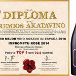 Impromptu Rosé, también el mejor rosado de España para AKATA Vinos