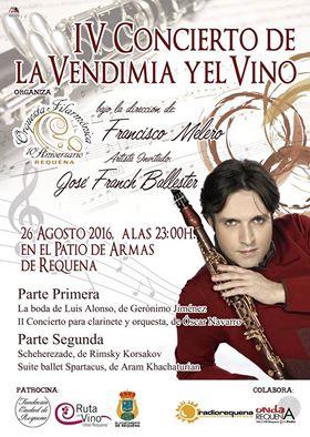 La Orquesta Filarmónica de Requena celebra el IV Concierto de la Vendimia y el Vino