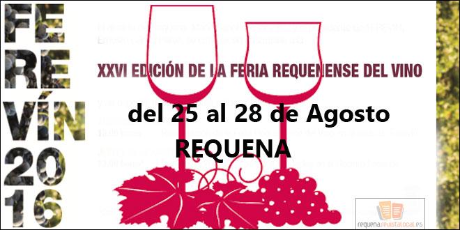 La XXVI edición de la Feria Requenense del vino ya tiene fecha