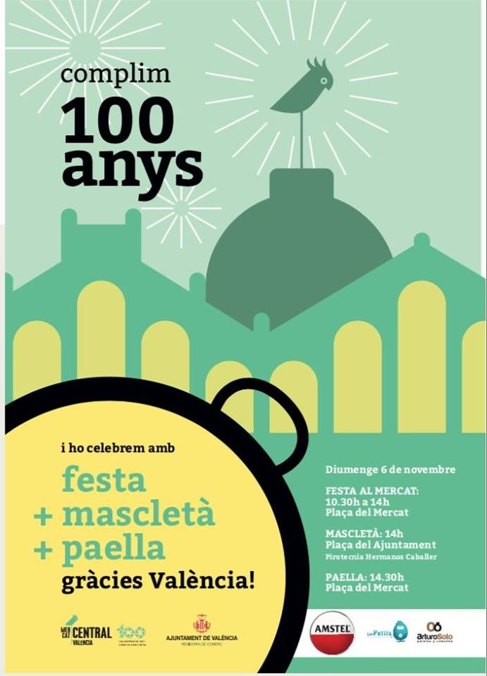 El Mercado Central celebrará sus 100 años con los valencianos