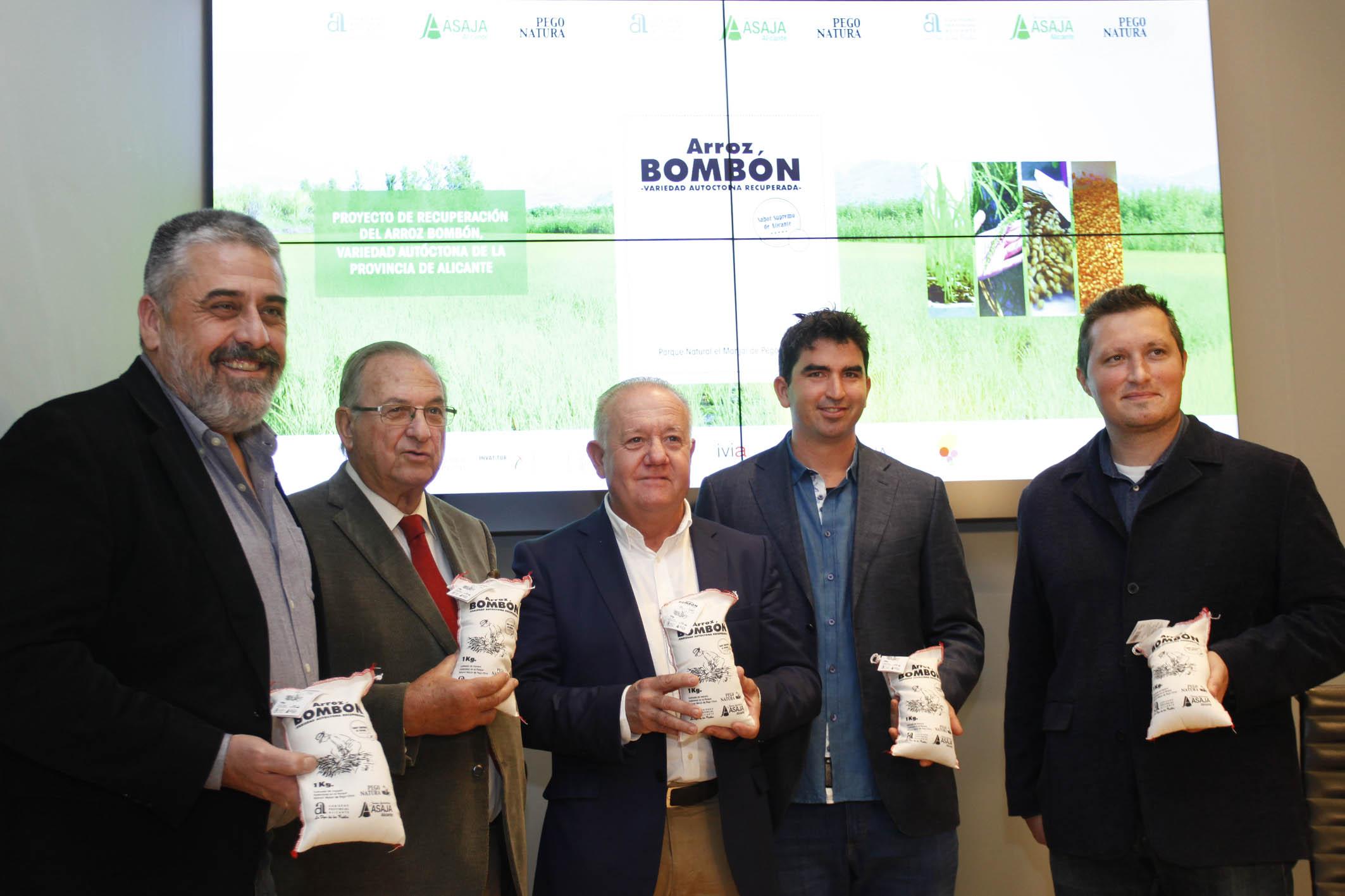 Diputación de Alicante y ASAJA culminan con éxito el proyecto de recuperación de la variedad autóctona de la provincia arroz bombón