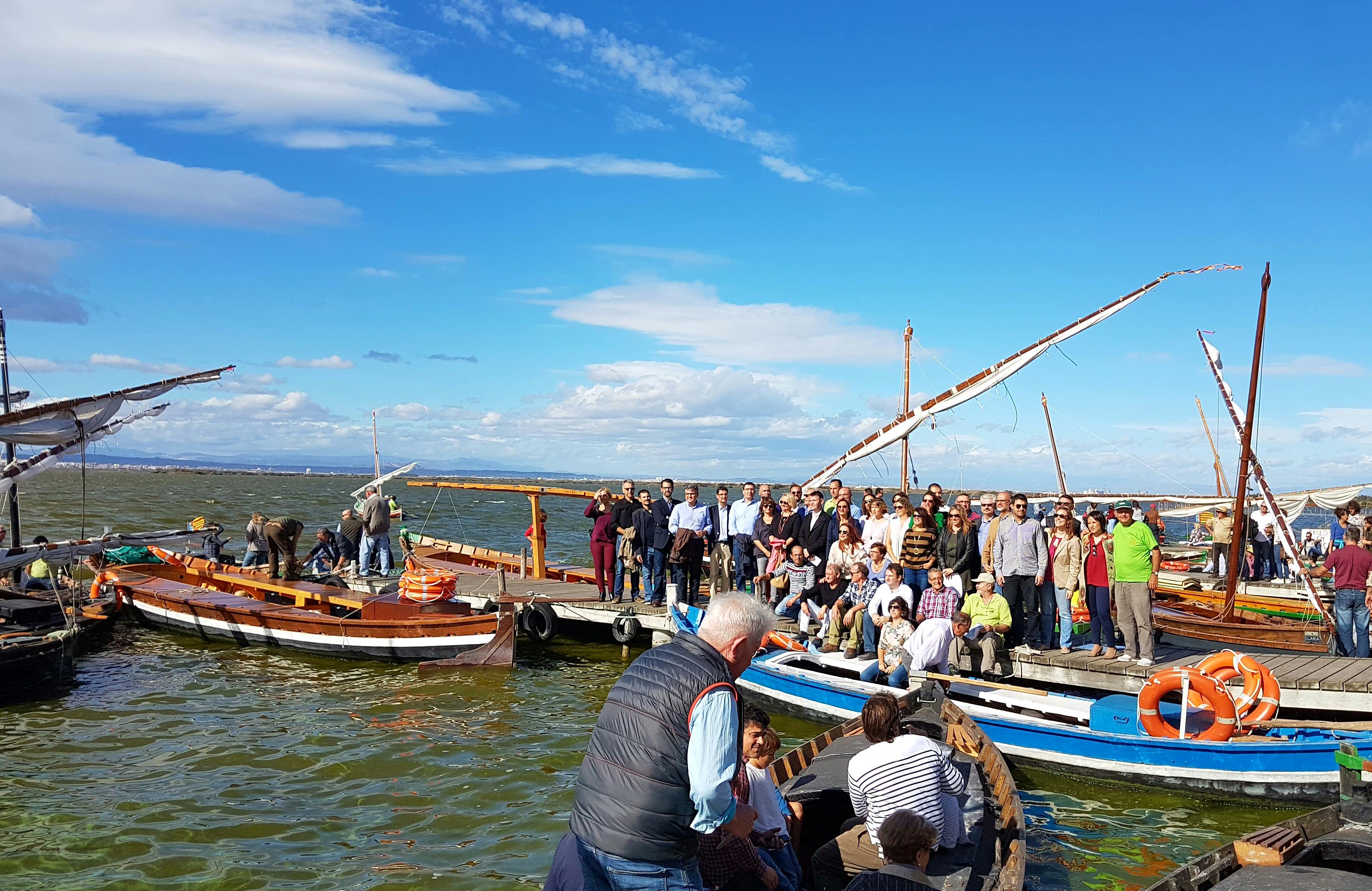 Cebrián: 'La declaración de la pesca artesanal y la vela latina como BIC refuerza el valor de la Albufera como patrimonio cultural y natural'