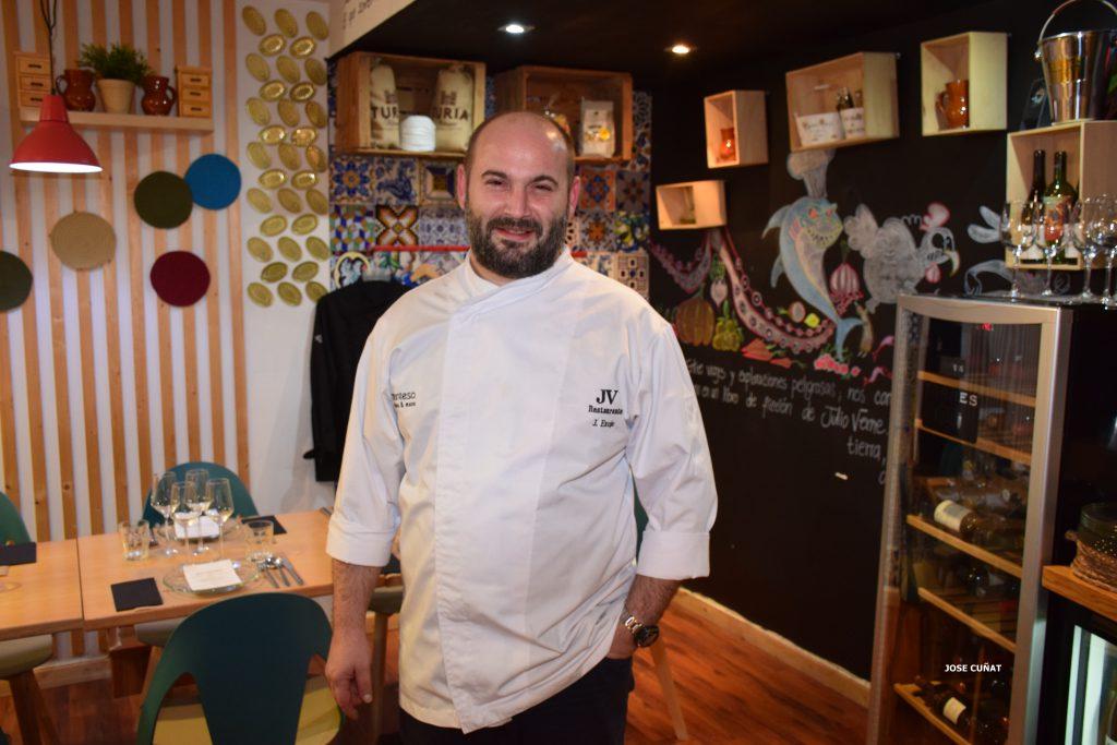 Juan Exojo Chef del restaurante Julio Verne en Valencia