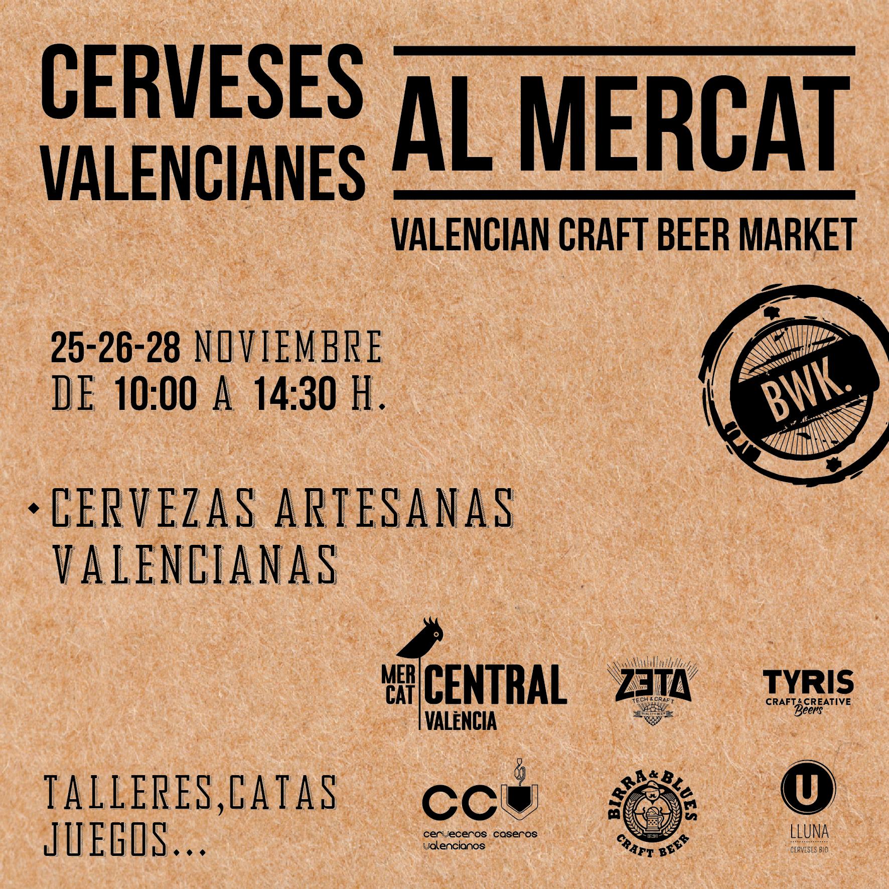 Bierwinkel organiza en el Mercado Central una gymkhana con cervezas artesanas locales