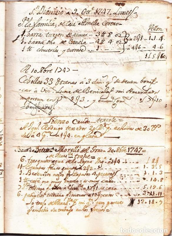 El primer manuscrito de la Mocadora 9 de octubre de 1747 Valencia siglo XVIII piuleta tronador