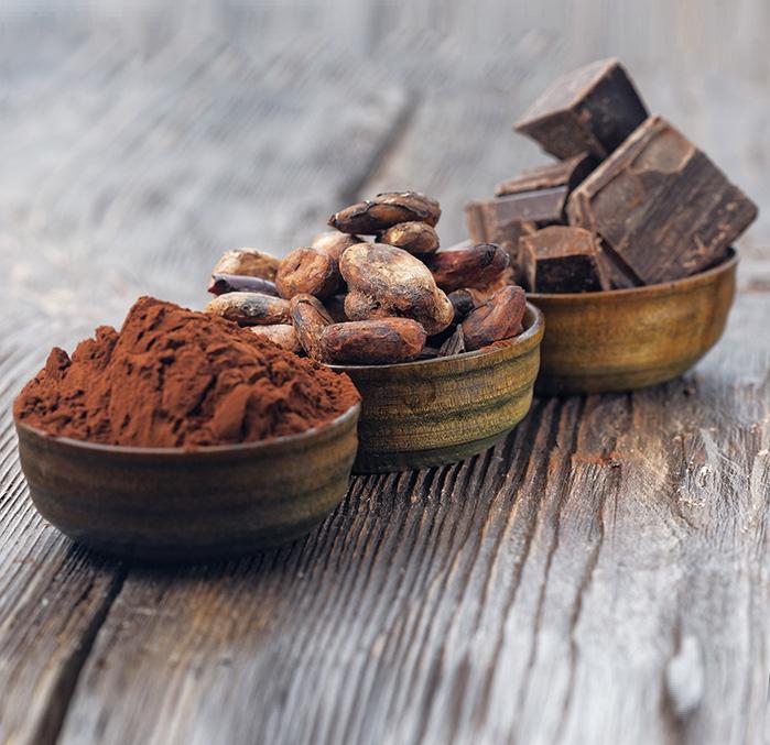 El cacao natural ayuda a mantener los nivelesde colesterol a raya durante la Navidad