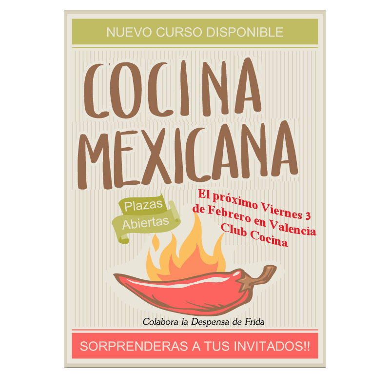 Curso de cocina mexicana en Valencia Club cocina