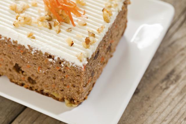 Receta de tarta de zanahoria con calabaza y frosting de queso