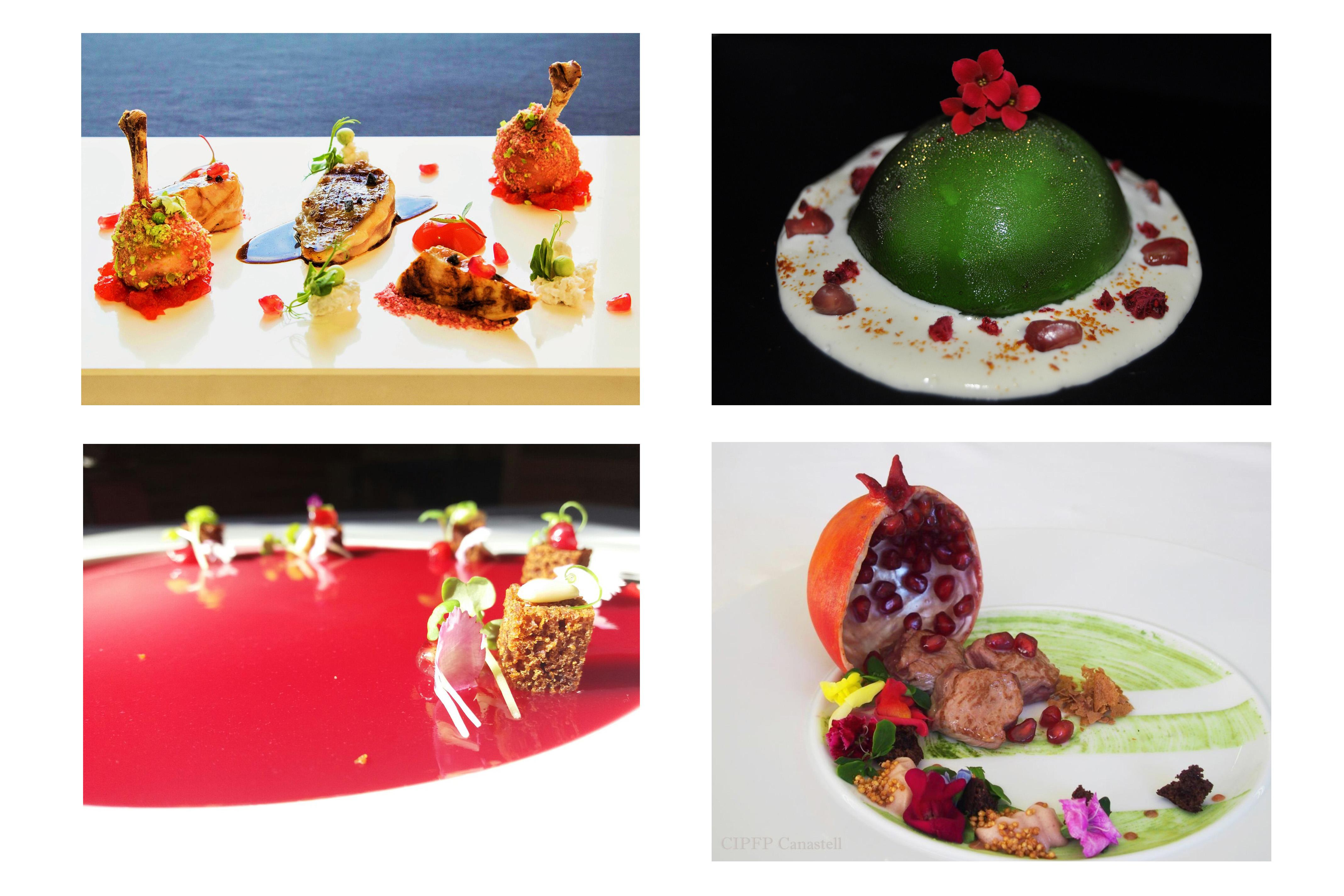 Chefs de Madrid, Valencia y Alicante pasan a la final del concurso nacional de cocina creativa con granadas de Elche