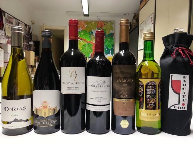 Enocata especial de seis vinos extraordinarios, vinos Monásticos