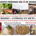 Evento. Enoturismo y comida en la ruta de la cuchara