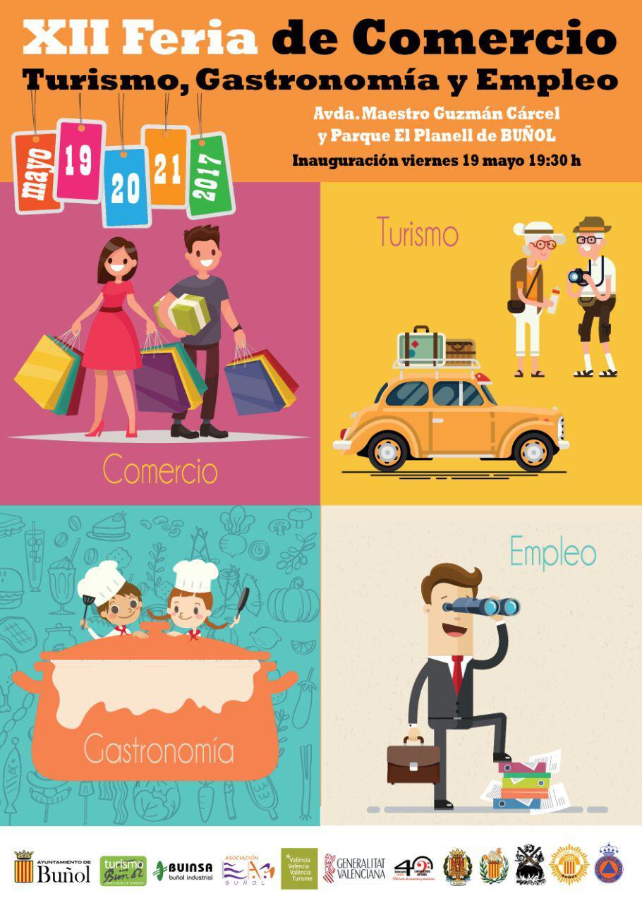 Buñol prepara la XII Feria del Comercio, Turismo, Gastronomía y Empleo