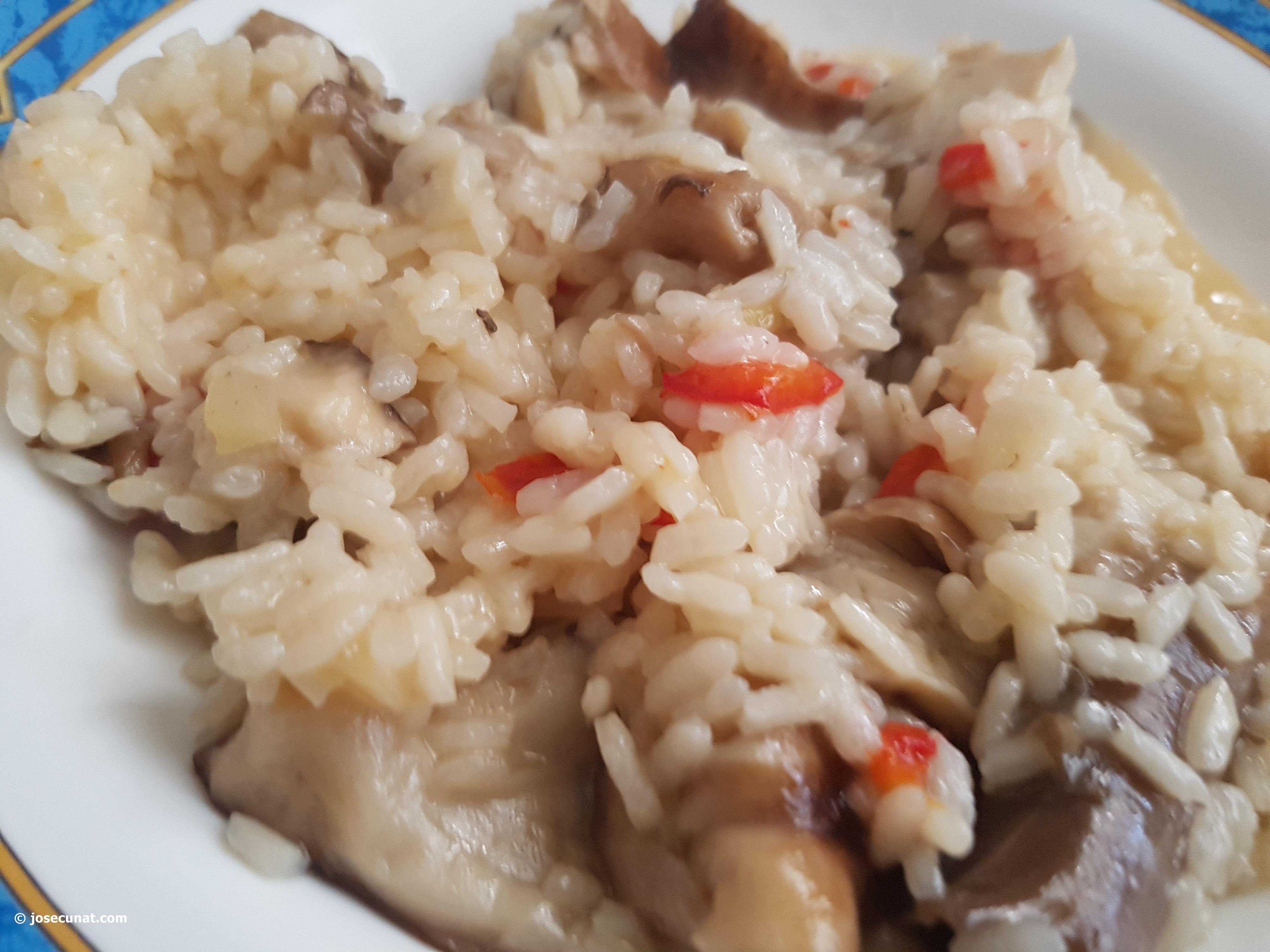 Una receta de arroz con boletus, fácil y espectacular