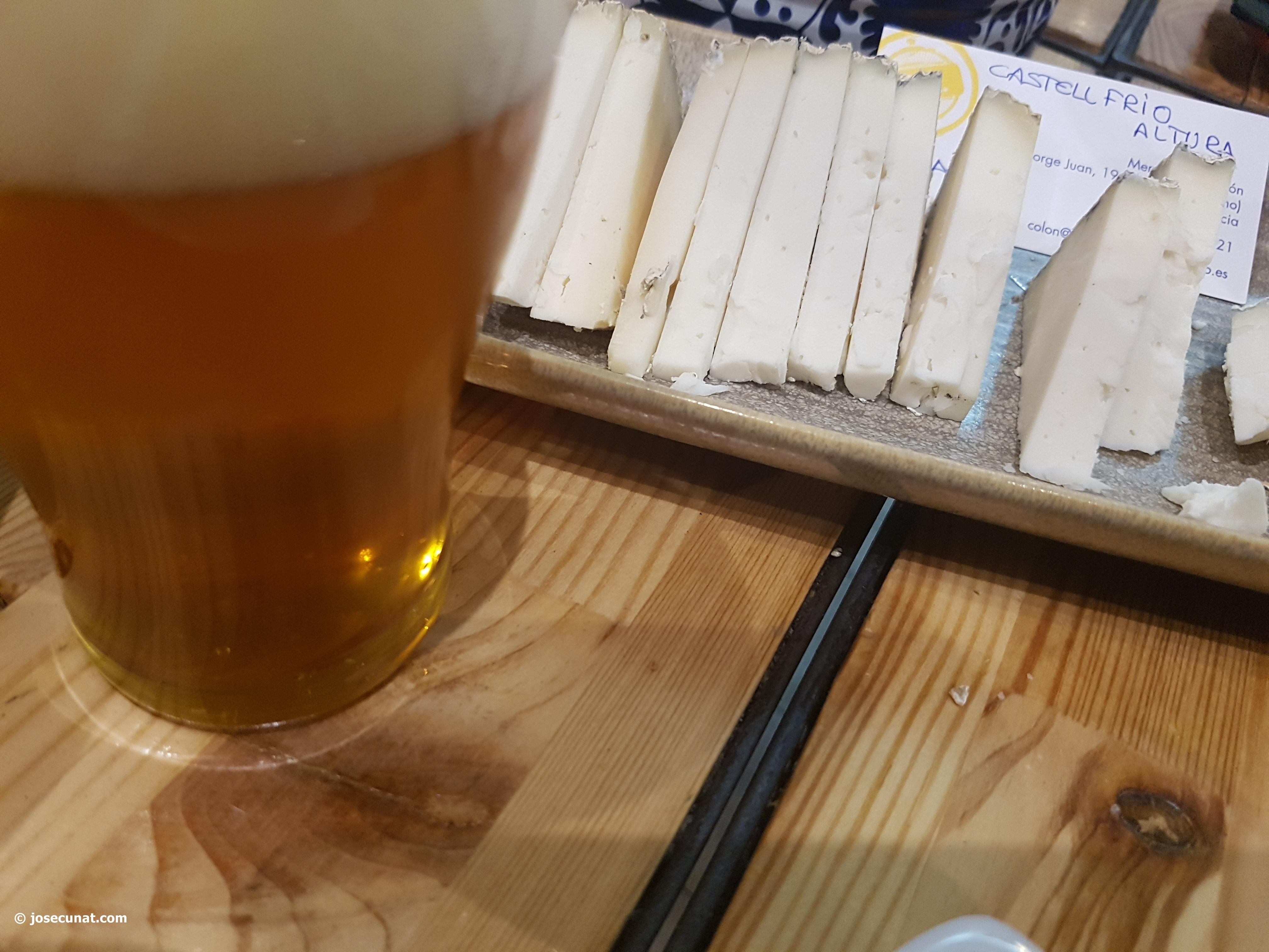 Valencia Beer Week, durante toda la semana en Las cervezas del mercado se propondrá un maridaje de cerveza y quesos artesanales valencianos