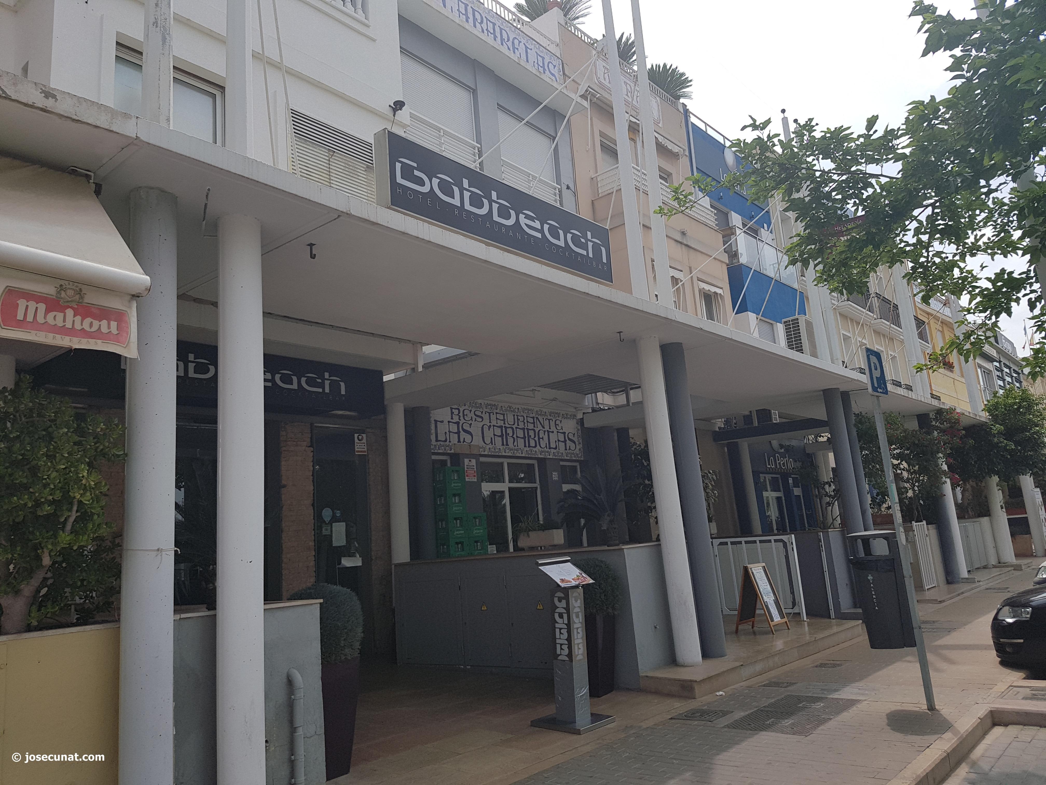 Gabbeach Hotel, Passeig de Neptú, en Valencia