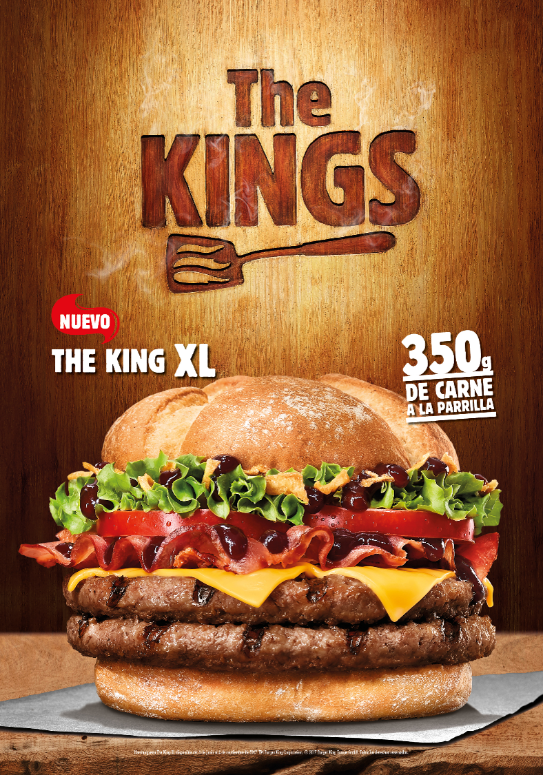 Llega The King XL la hamburguesa que hará salivar a los carnívoros del mundo